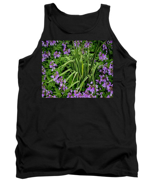 A Ring Of Purple Flowers Tank Top