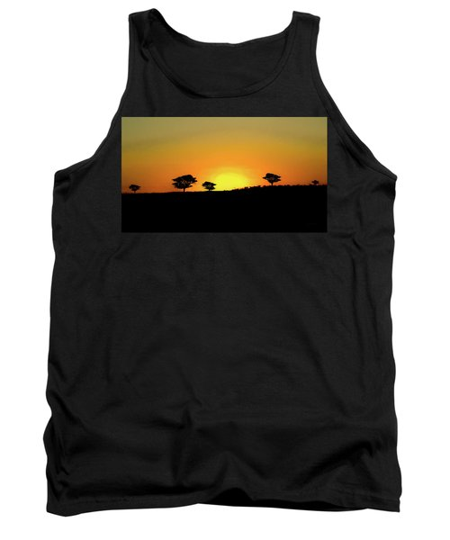 A Sunset In Namibia Tank Top by Ernie Echols