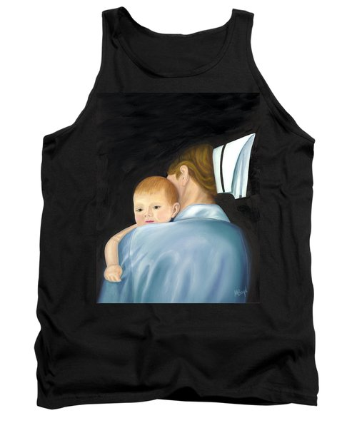 Tank Top featuring the painting Comforting A Tradition Of Nursing by Marlyn Boyd