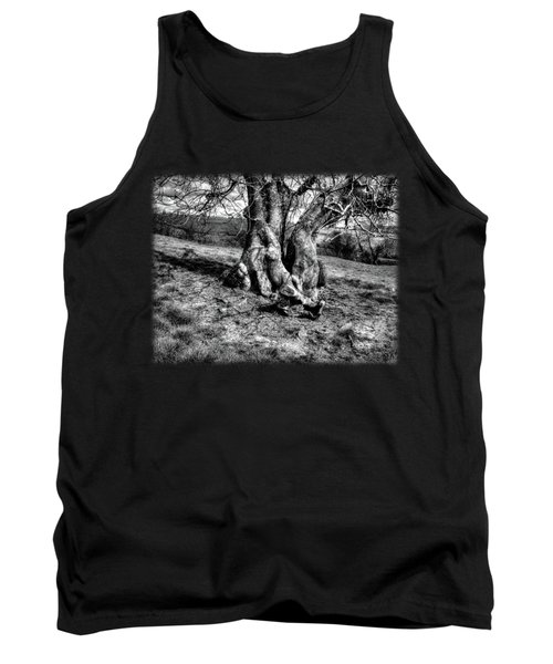 A Tree In A Pool Of Black And White Light Tank Top
