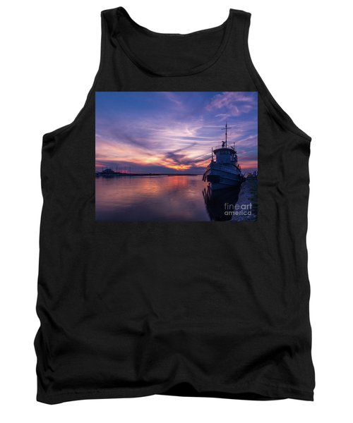 A Tugboat Sunset Tank Top