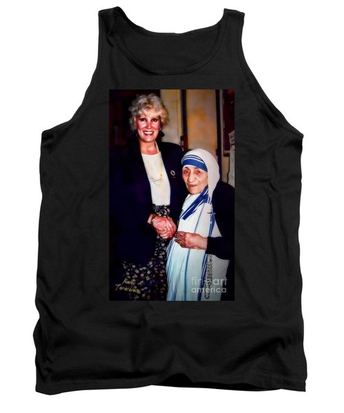 Tank Top featuring the digital art A Vist With Mother Teresa by Kathy Tarochione