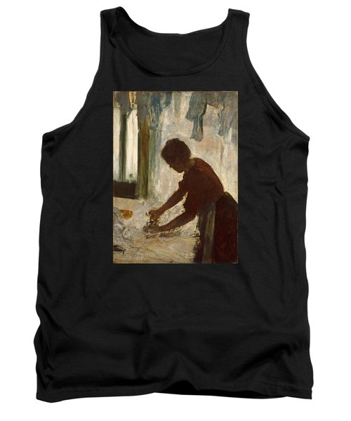 Tank Top featuring the painting A Woman Ironing by Edgar Degas