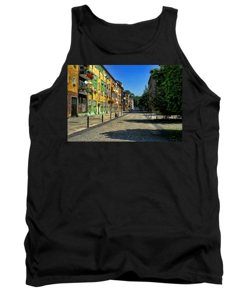 Tank Top featuring the photograph Abandoned Street by Mariola Bitner