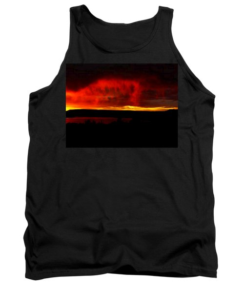 Tank Top featuring the painting Abiquiu Reservoir  by Dennis Ciscel