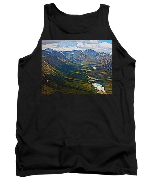 Tank Top featuring the painting Above The Arctic Circle by John Haldane