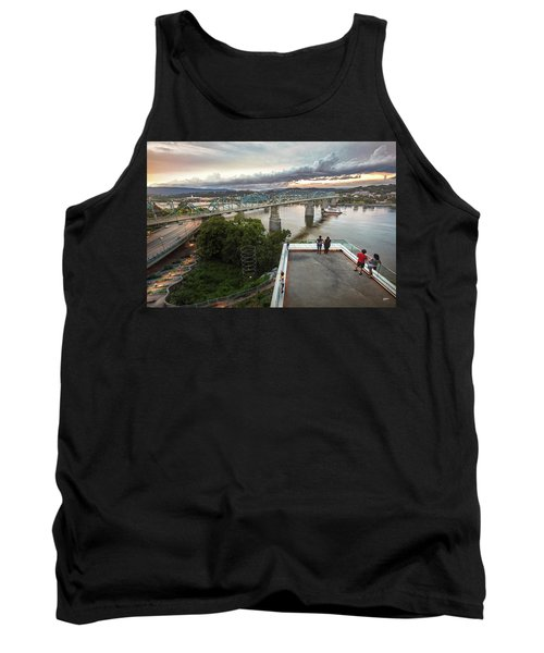 Above The Bluff, Musuem View Tank Top by Steven Llorca