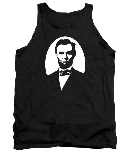 Abraham Lincoln - Black And White Tank Top by War Is Hell Store