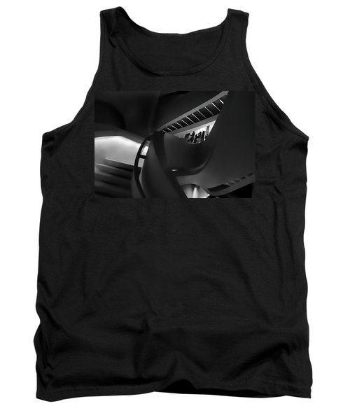 Abstract In Black Tank Top