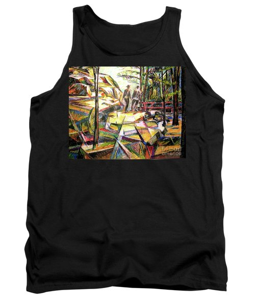 Abstract Landscape With People Tank Top