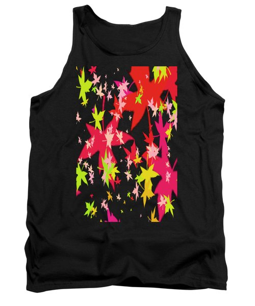 Abstract Leaf Tank Top