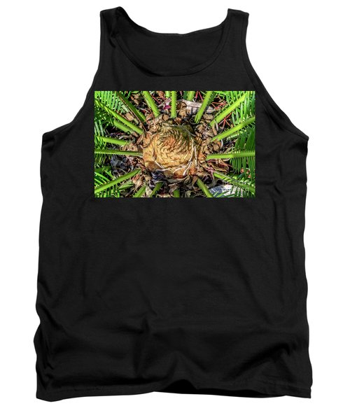Abstract Nature Tropical Fern 2096 Tank Top