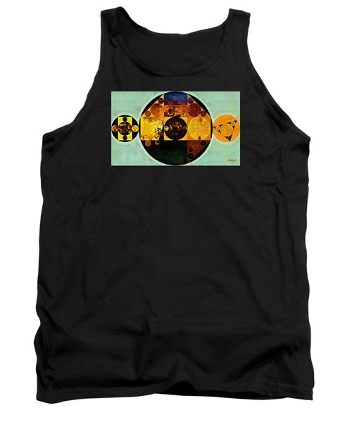 Abstract Painting - Gamboge Tank Top