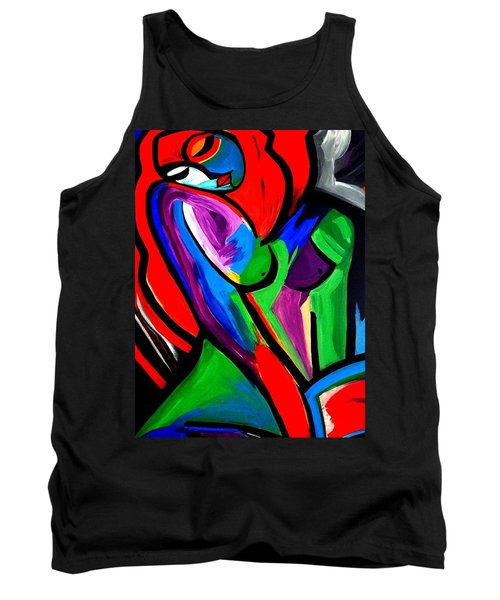 Abstract  Rain Bow Girl Tank Top by Nora Shepley
