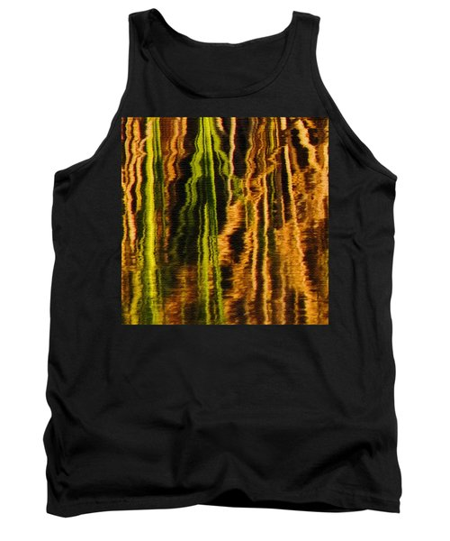 Abstract Reeds Triptych Middle Tank Top