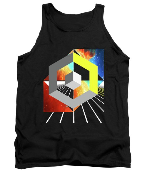 Abstract Space 4 Tank Top by Russell K