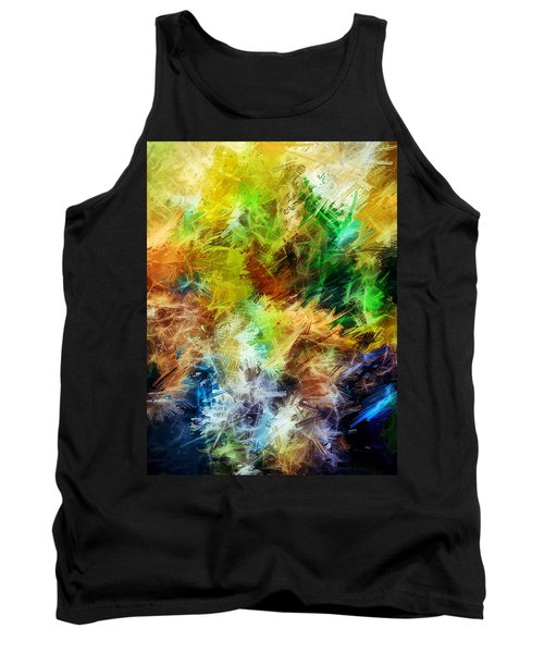 Abstract, Yellow  Tank Top