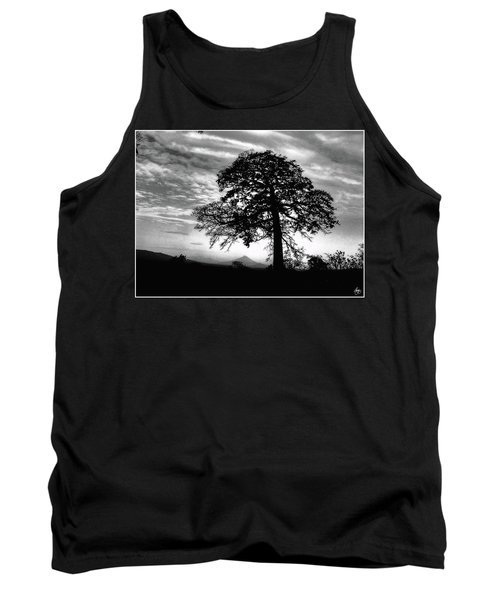 Acacia And Volcano Silhouetted Tank Top