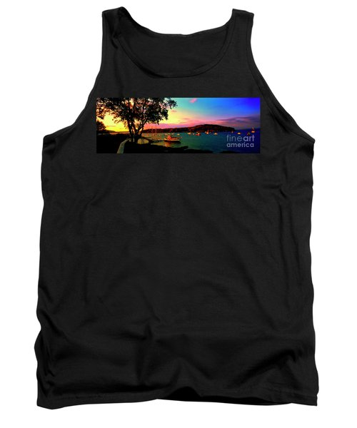 Tank Top featuring the photograph  Acadia Bar Harbor Sunset Cruises by Tom Jelen