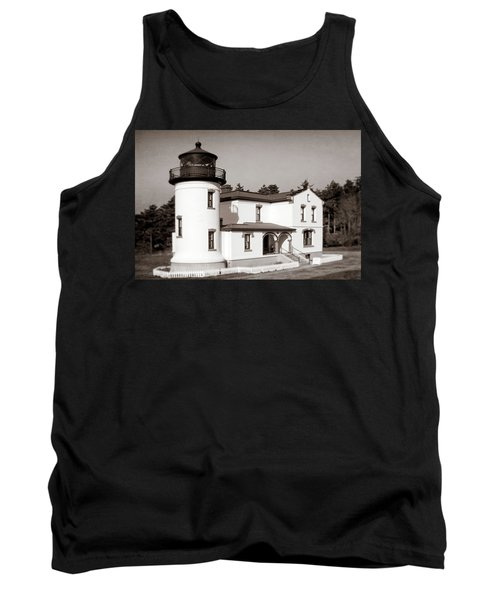 Admiralty Head Lighthouse Vintage Photograph Tank Top