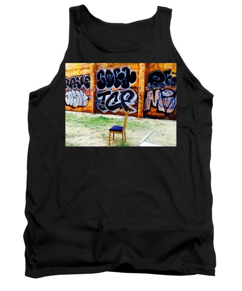 Admiring Barcelona Graffiti Wall Tank Top