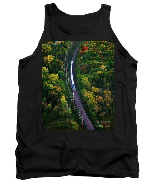 Aerial Of  Commuter Train  Tank Top