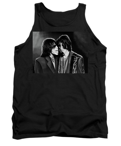Aerosmith Toxic Twins Mixed Media Tank Top by Paul Meijering