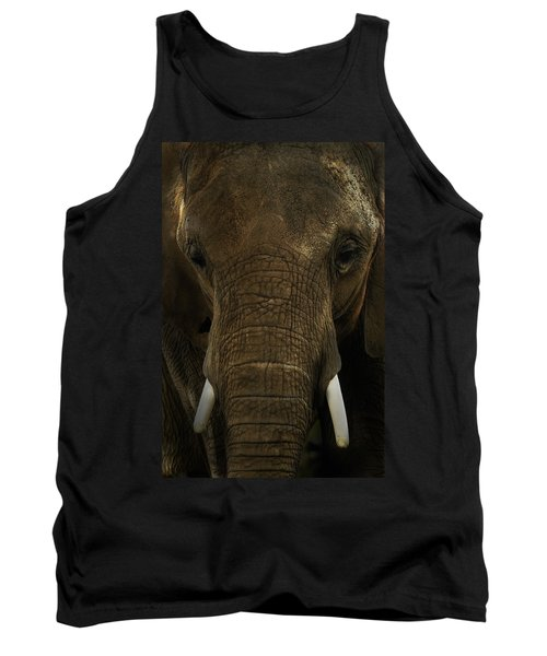 Tank Top featuring the photograph African Elephant by Michael Cummings