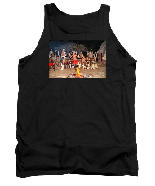African Fire Dance Tank Top by Rick Bragan