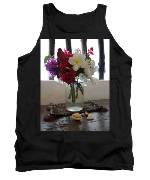 African Flowers And Shells Tank Top