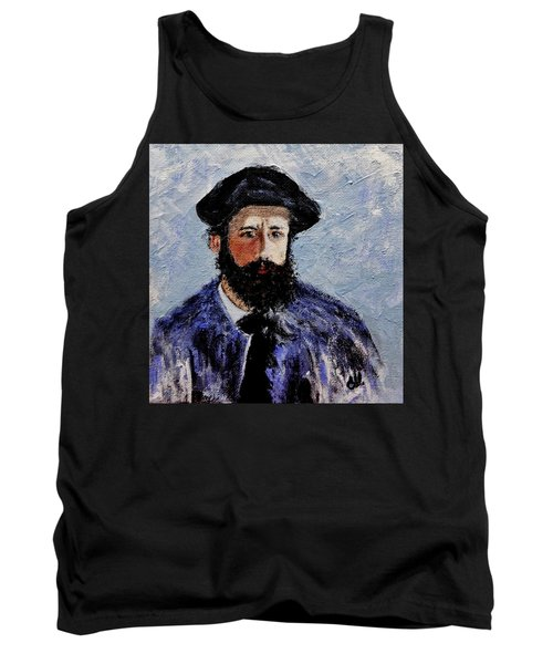 After Monet-self Portrait With A Beret  Tank Top