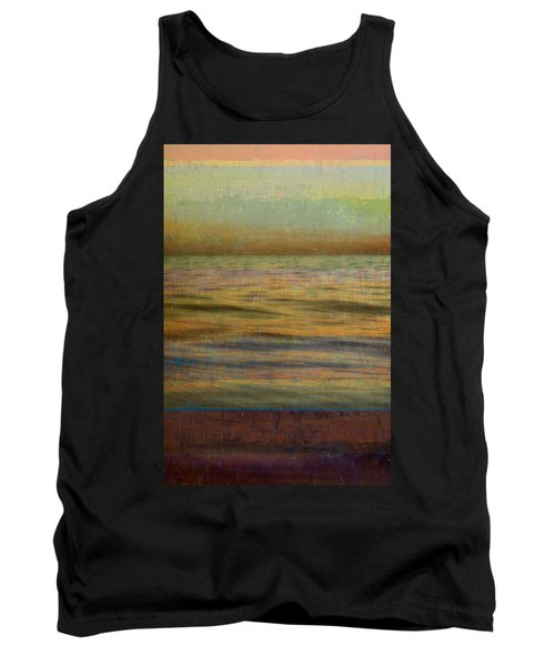 Tank Top featuring the photograph After The Sunset - Teal Sky by Michelle Calkins