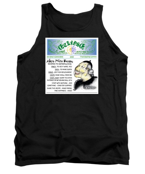 Tank Top featuring the painting Real Fake News Recipe Column 1 by Dawn Sperry