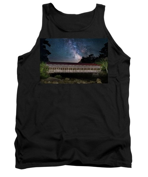Albany Covered Bridge Under The Milky Way Tank Top