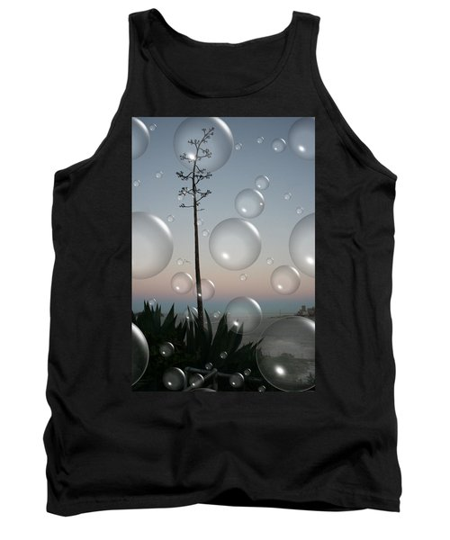 Tank Top featuring the digital art Alca Bubbles by Holly Ethan