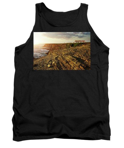 Tank Top featuring the photograph Alentejo Cliffs by Carlos Caetano