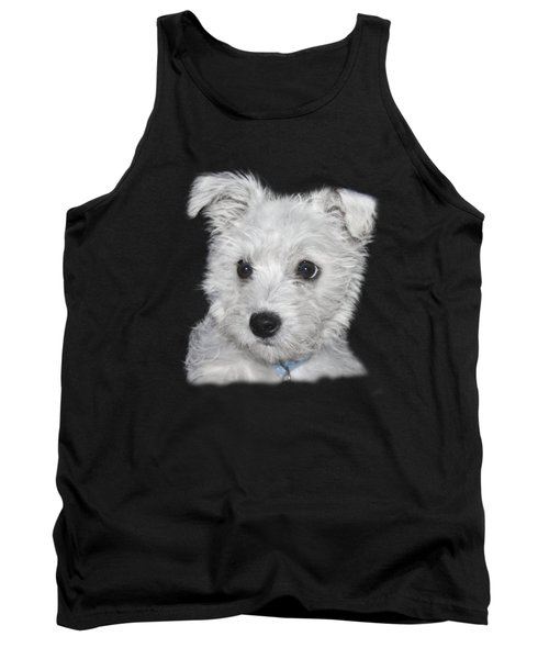 Alert Puppy On A Transparent Background Tank Top by Terri Waters