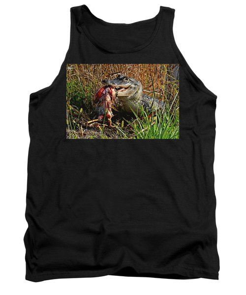 Alligator Eating A Fish Tank Top