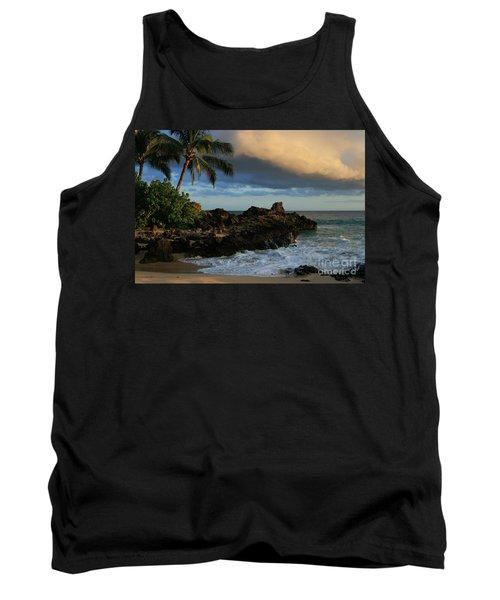 Aloha Naau Sunset Paako Beach Honuaula Makena Maui Hawaii Tank Top