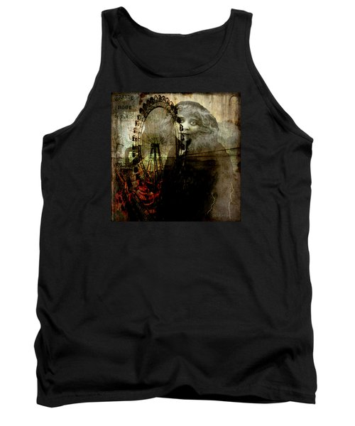 Tank Top featuring the digital art Alone At The Fair by Delight Worthyn