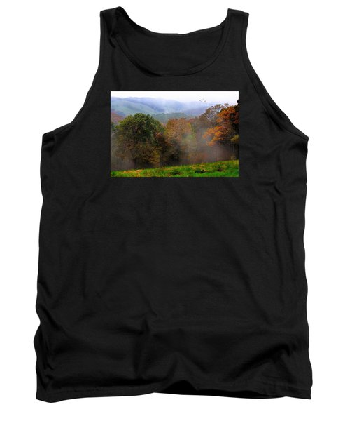 Tank Top featuring the photograph Along The Brp by Joan Bertucci