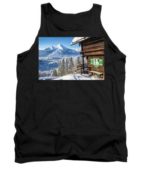 Alpine Winter Wonderland Tank Top by JR Photography