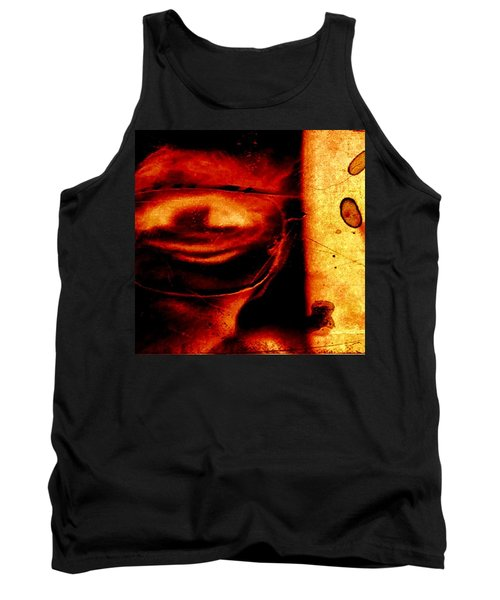 Altered Image In Red Tank Top