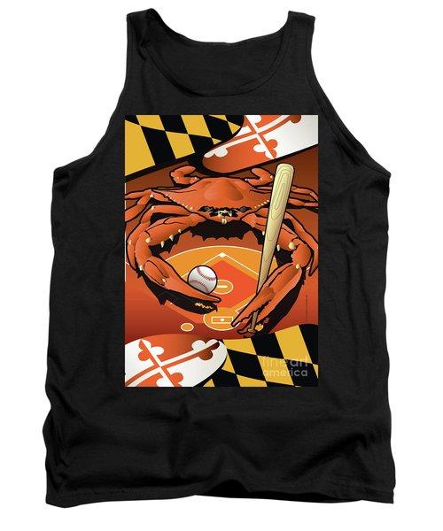 Baltimore Orioles Baseball Crab Maryland Tank Top