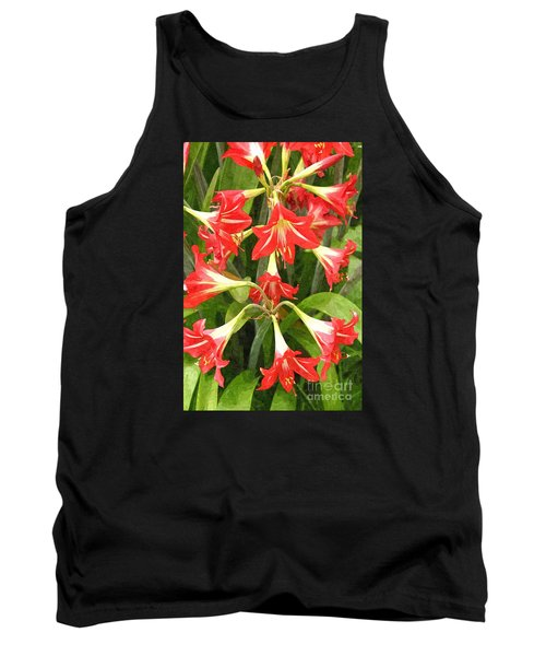 Amaryllis Lily Bunch Tank Top