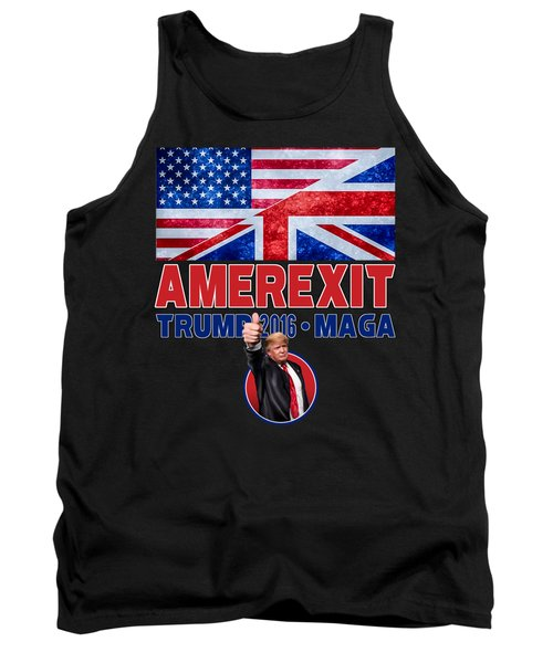 Tank Top featuring the digital art Amerexit by Don Olea
