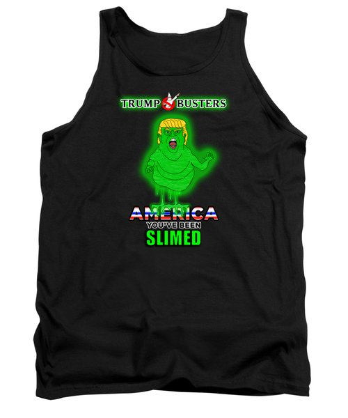 America, You've Been Slimed Tank Top by Sean Corcoran