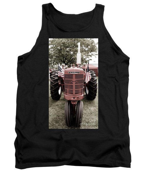American Farmall Head On Tank Top by Meagan  Visser