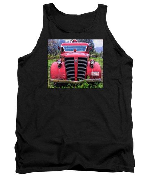 American Foamite Firetruck1 Tank Top by Susan Crossman Buscho