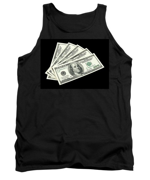 American Money On Black Background Tank Top